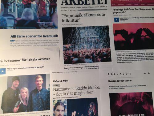 Bild och länk till artikeln Kulturrådet ger stöd till poparrangörer, men alldeles för lite…