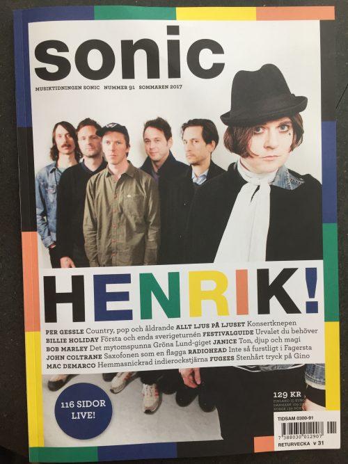 Bild och länk till artikeln Senaste Sonic handlar om Livemusik