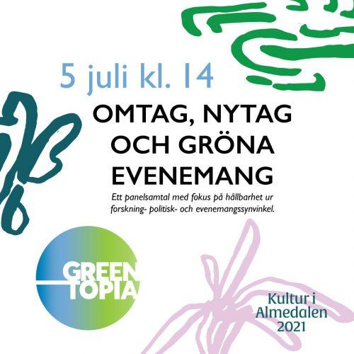 Bild och länk till artikeln Svensk Live på Almedalen: Omtag, nytag och gröna evenemang
