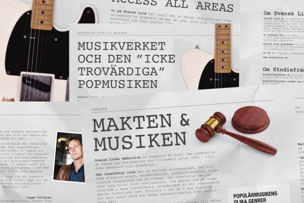 Bild och länk till artikeln Ny rapport visar att svensk popmusik lever farligt.