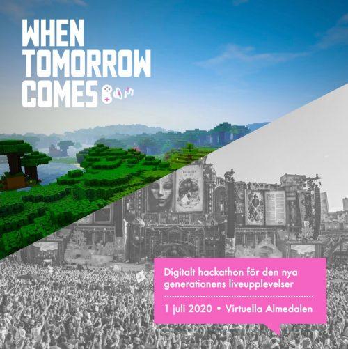 Bild och länk till artikeln Skånsk Live: Välkommen till  When Tomorrow Comes – ett digitalt hackaton för den nya generationens liveupplevelser!